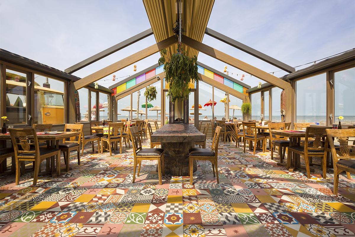 patchwork cementtegels restaurant