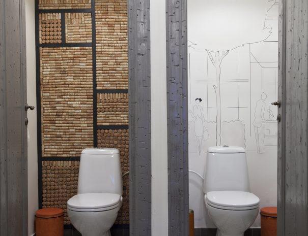 cementtegels in de toilet