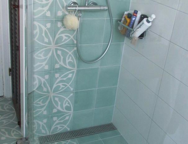 Patroontegels in de douche